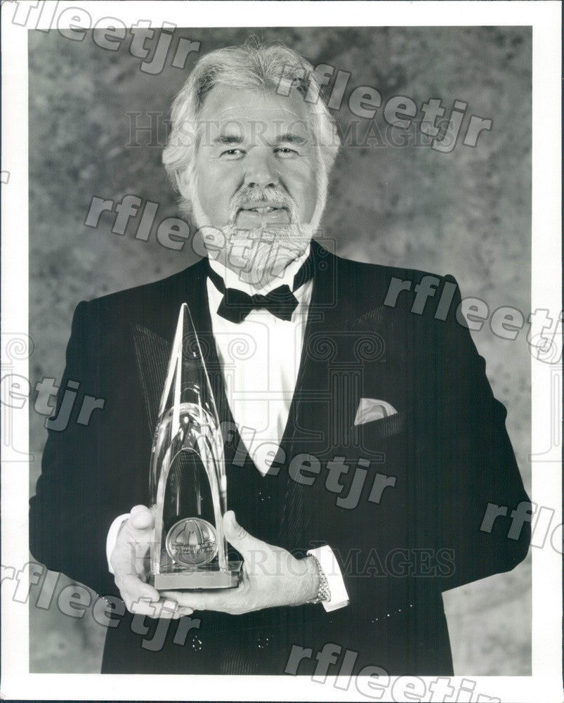 1989 Grammy Winning Country/Pop Singer, Actor Kenny Rogers Press Photo adw223 - Historic Images