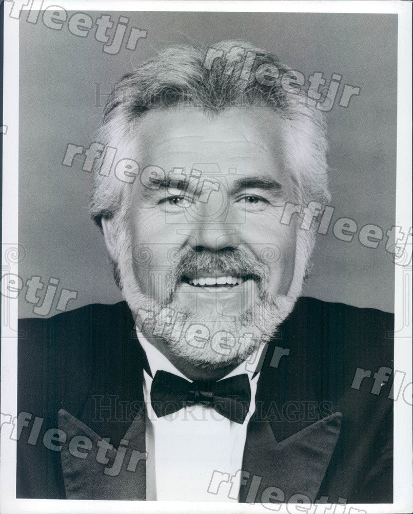 1990 Grammy Winning Country/Pop Singer, Actor Kenny Rogers Press Photo adw231 - Historic Images