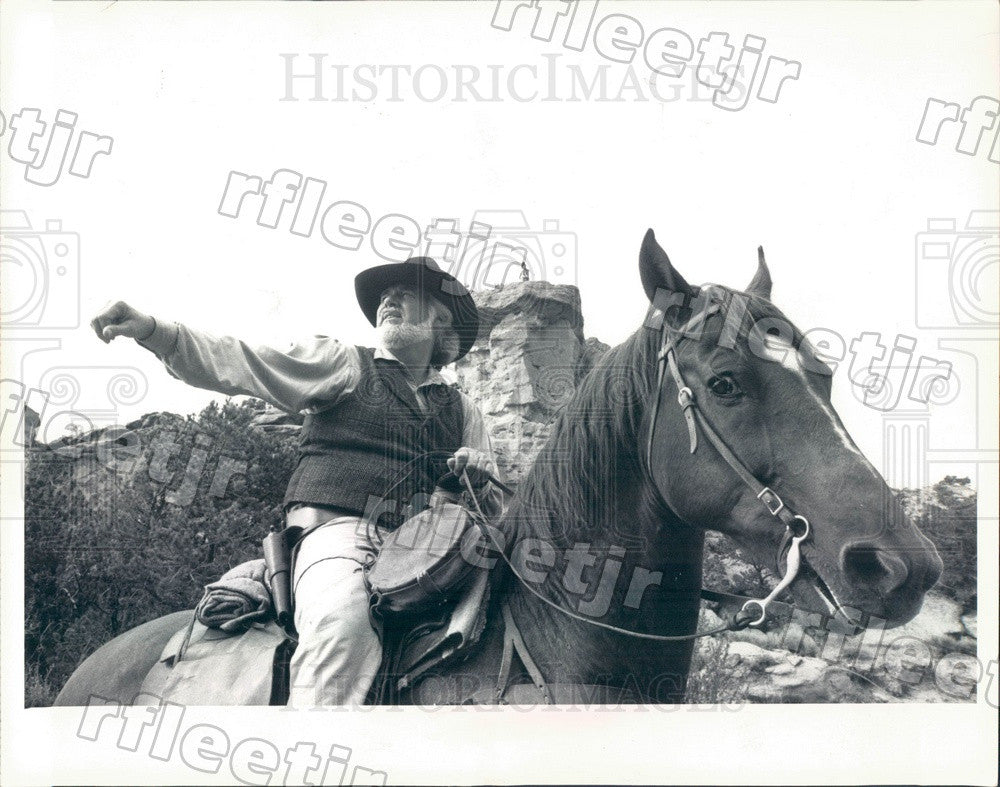1987 Grammy Winning Country/Pop Singer, Actor Kenny Rogers Press Photo adw233 - Historic Images
