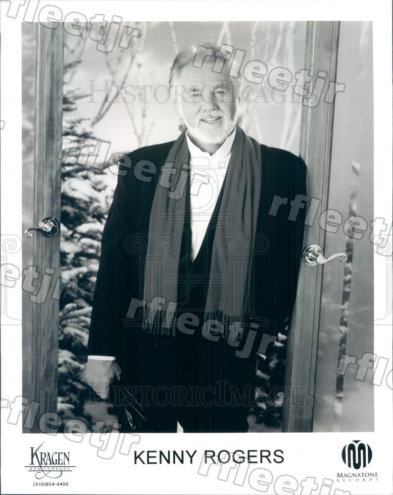 Undated Grammy Winning Country/Pop Singer, Actor Kenny Rogers Press Photo adw237 - Historic Images