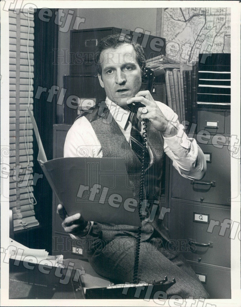 1981 Emmy Winning Actor Daniel Travanti on Hill Street Blues Press Photo adw239 - Historic Images