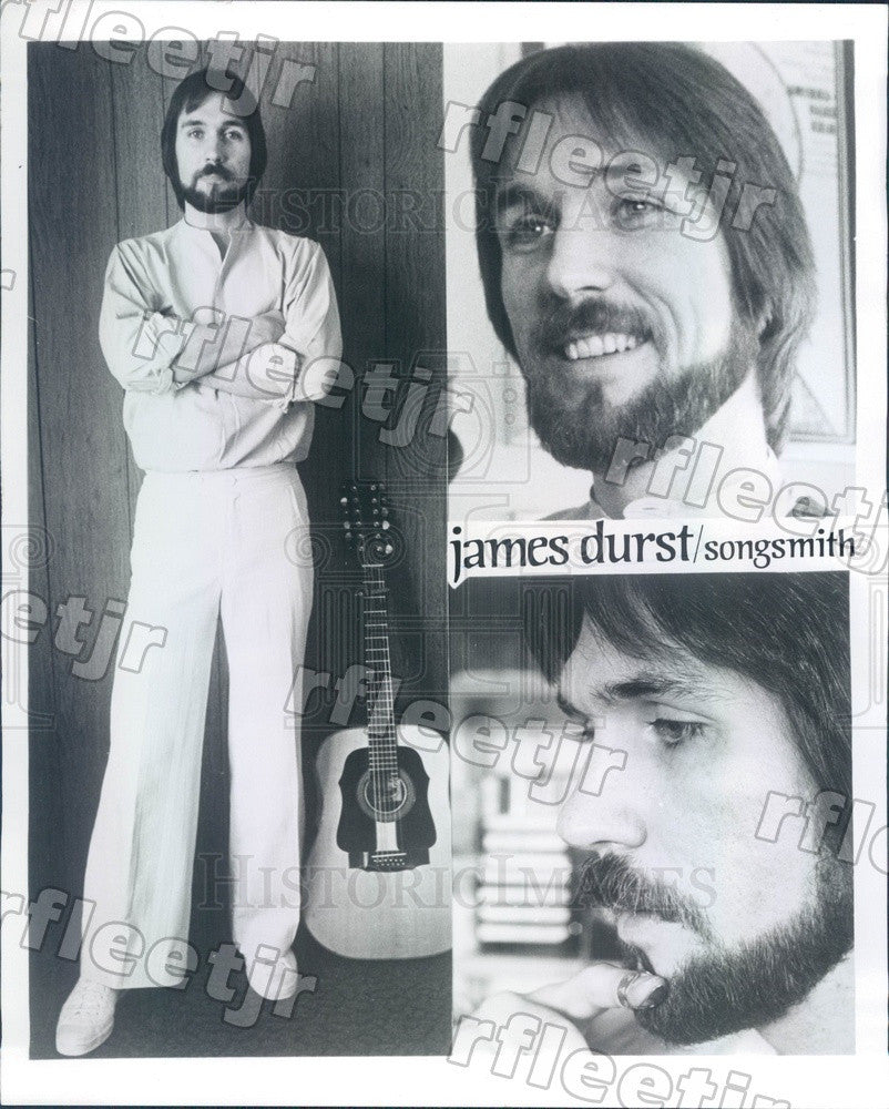 1977 Musician James Durst Press Photo adw261 - Historic Images