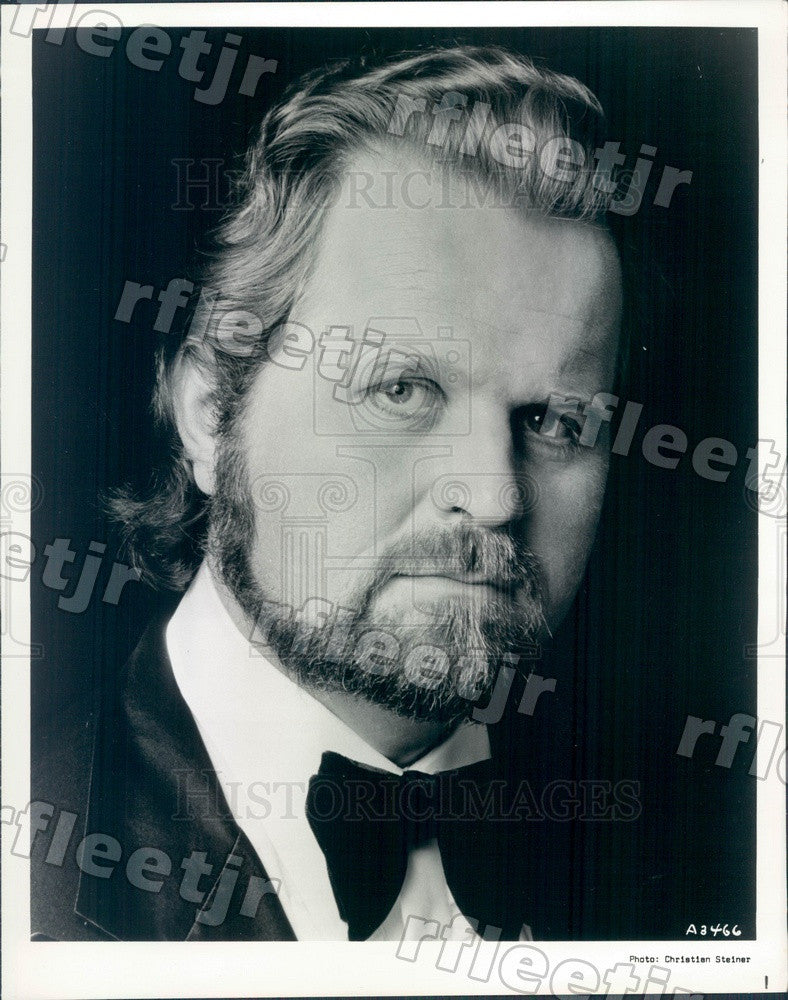 1977 Metropolitan Opera Bass-Baritone Paul Plishka Press Photo adw279 - Historic Images