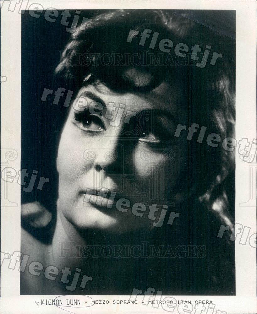 1971 Metropolitan Opera Singer Mignon Dunn, Mezzo-Soprano Press Photo adw289 - Historic Images
