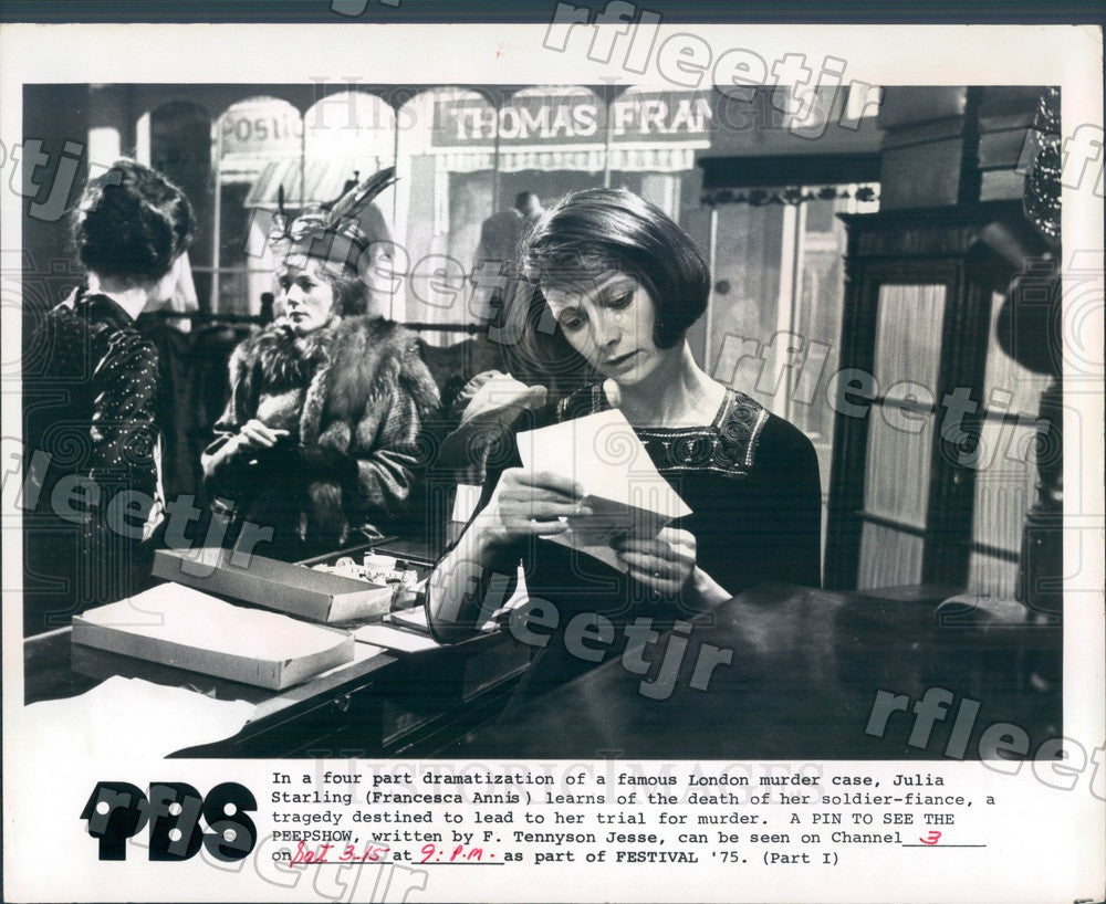 1975 British Actress Francesca Annis Press Photo adw327 - Historic Images