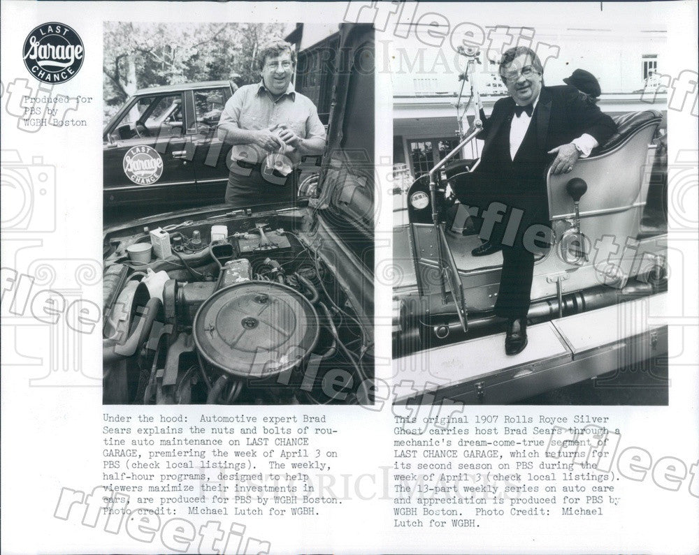 1983 Automotive Expert & TV Host Brad Sears on PBS Press Photo adw337 - Historic Images