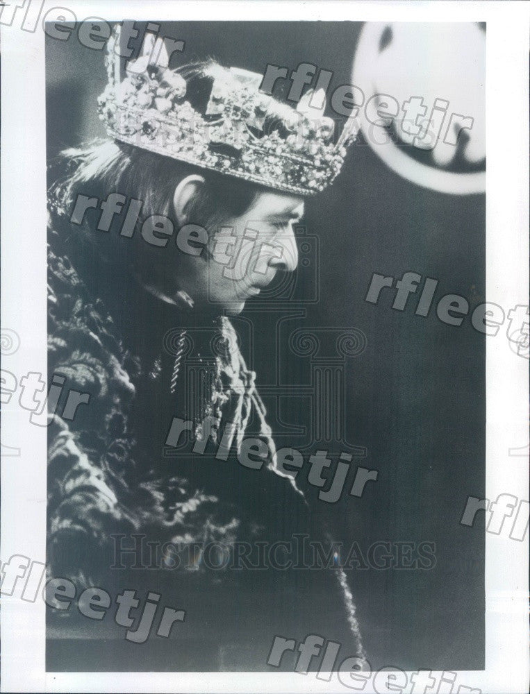1983 British Actor Ron Cook in Richard III on PBS Press Photo adw341 - Historic Images