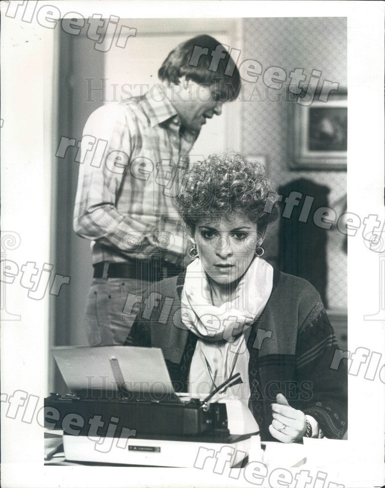 1983 British Actors James Bolam & Suzanne Bertish on PBS Press Photo adw345 - Historic Images