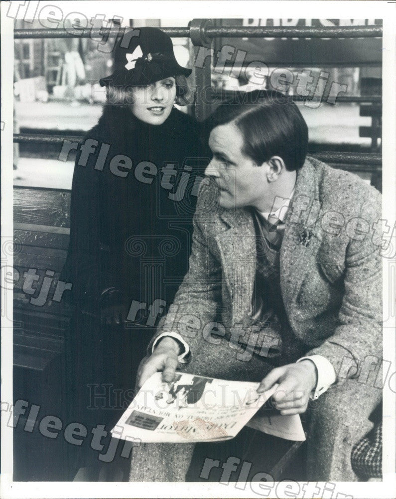 1983 Actors Osmund Bullock, Sarah Berger on PBS Show Mystery! Press Photo adw349 - Historic Images