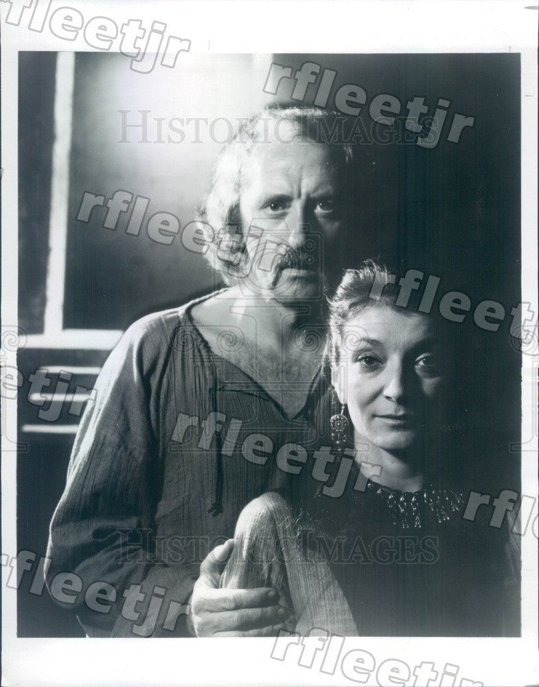 1983 Actors Nicol Williamson & Tony Winner Jane Lapotaire Press Photo adw355 - Historic Images