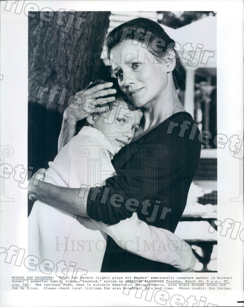 1984 Actor Trish Van Devere in Haunted on PBS Press Photo adw383 - Historic Images