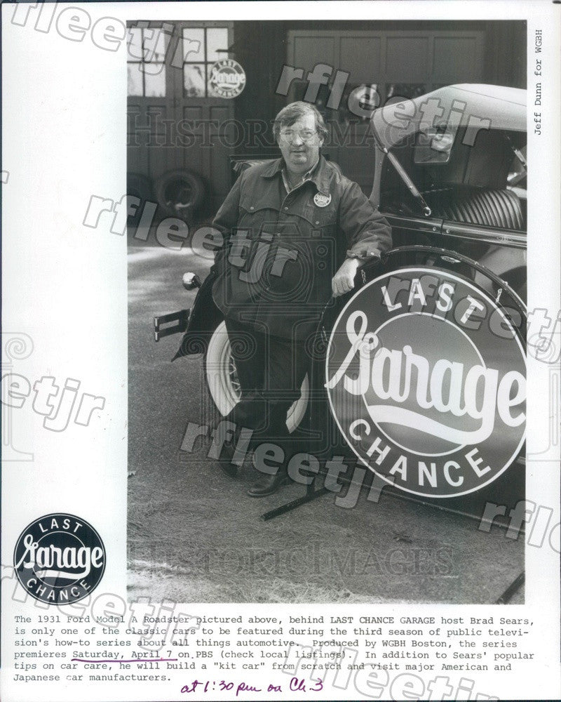 1984 Automotive Expert & TV Host Brad Sears on PBS Press Photo adw385 - Historic Images