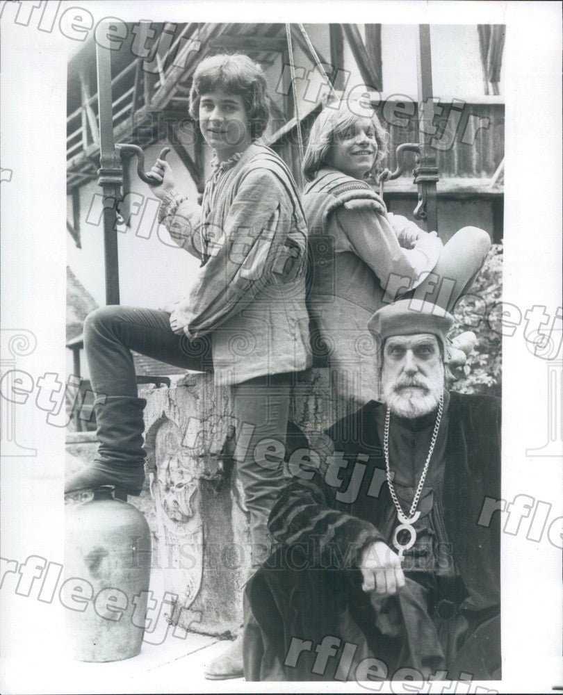 1984 Actors Chris Makepeace, Lance Kerwin, Fred Gwynne Press Photo adw389 - Historic Images