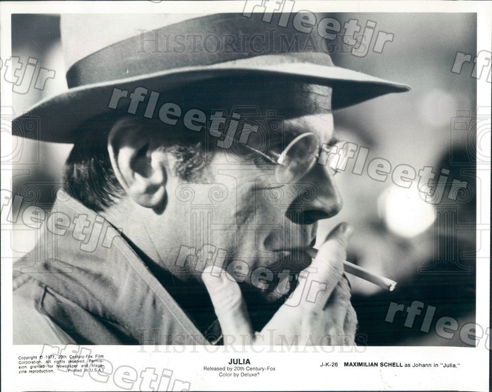 1977 Oscar Winning Actor Maximilian Schell in Film Julia Press Photo adw39 - Historic Images
