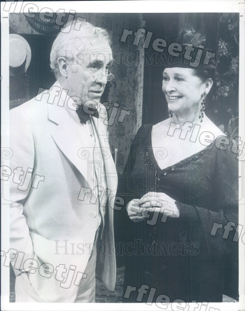 1984 Tony Winning Actors Jason Robards & Colleen Dewhurst Press Photo adw393 - Historic Images