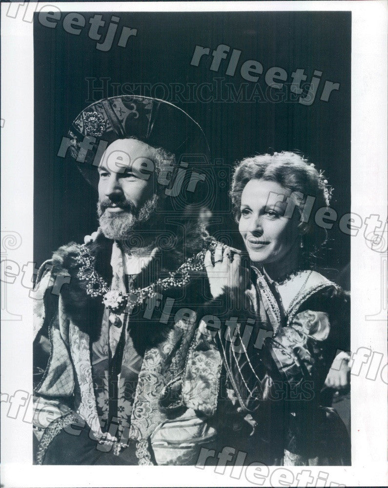 1980 Actors Patrick Stewart & Claire Bloom in Hamlet on PBS Press Photo adw397 - Historic Images