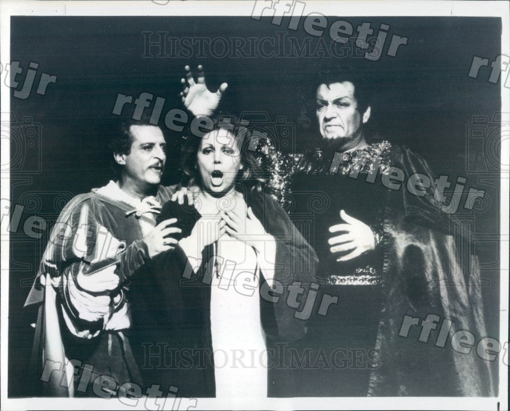 1979 Lyric Opera of Chicago Alfredo Kraus, Mirella Freni Press Photo adw425 - Historic Images