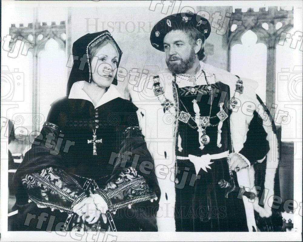 1979 British Actors John Stride & Claire Bloom in Henry VIII Press Photo adw441 - Historic Images