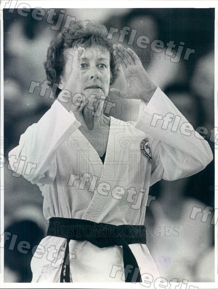 1983 Florida Tae Kwon Do Champion Elinor Clark Press Photo adw501 - Historic Images