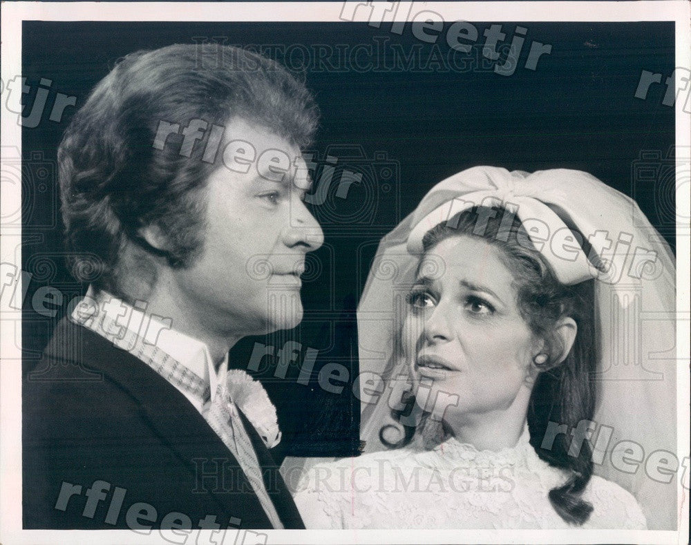 1970 Actors Dick Shawn & Oscar Winner Anne Bancroft on TV Press Photo adw517 - Historic Images