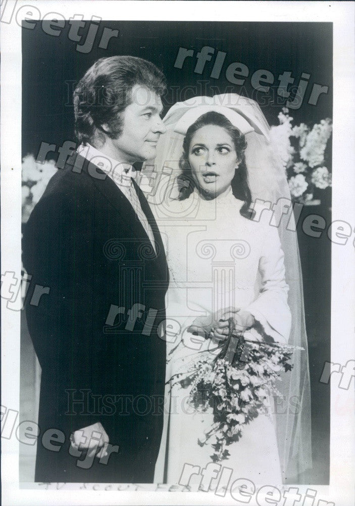 1970 Actors Dick Shawn & Oscar Winner Anne Bancroft on TV Press Photo adw521 - Historic Images