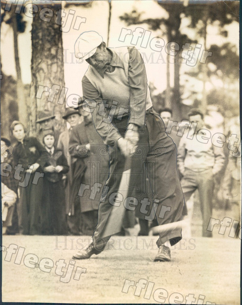 1941 MLB Philadelphia Phillies Pitcher, Golfer Merv Shea Press Photo adw541 - Historic Images