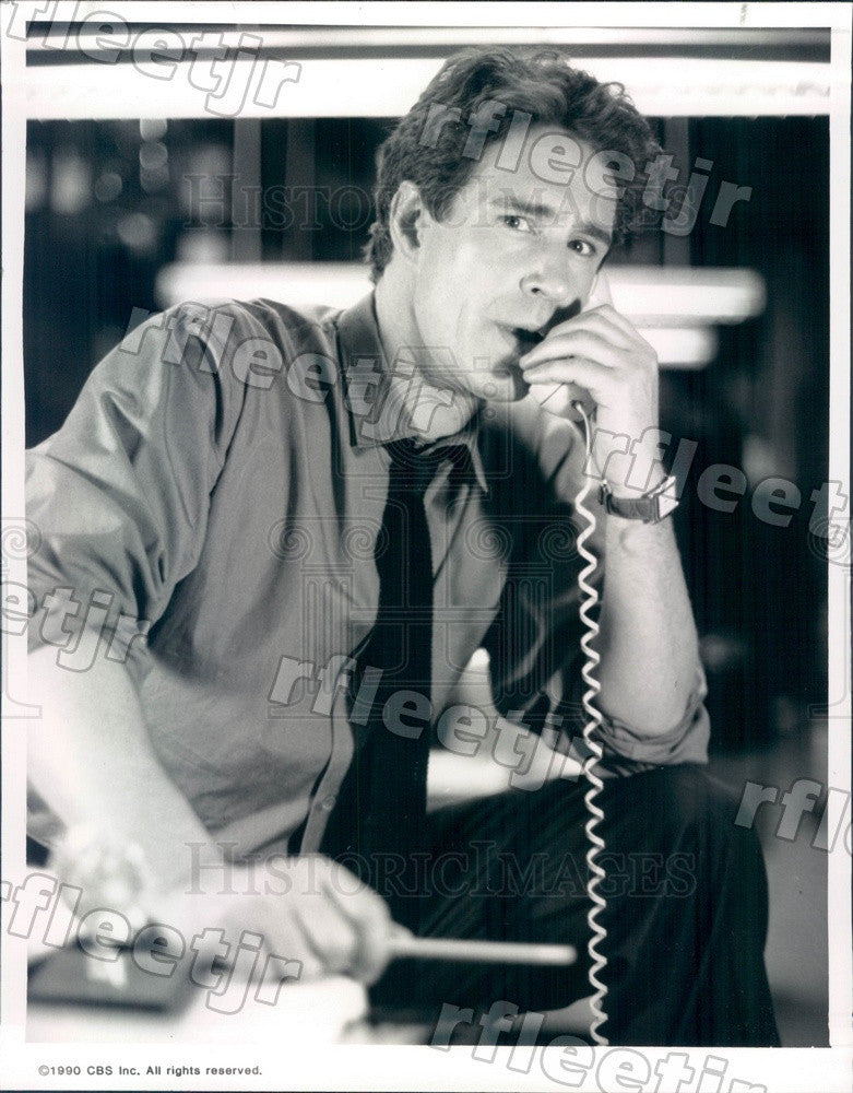 1990 Stage & Film Actor John Shea on TV Show WIOU Press Photo adw547 - Historic Images