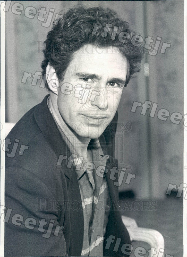 1990 Stage & Film Actor John Shea on TV Show WIOU Press Photo adw549 - Historic Images