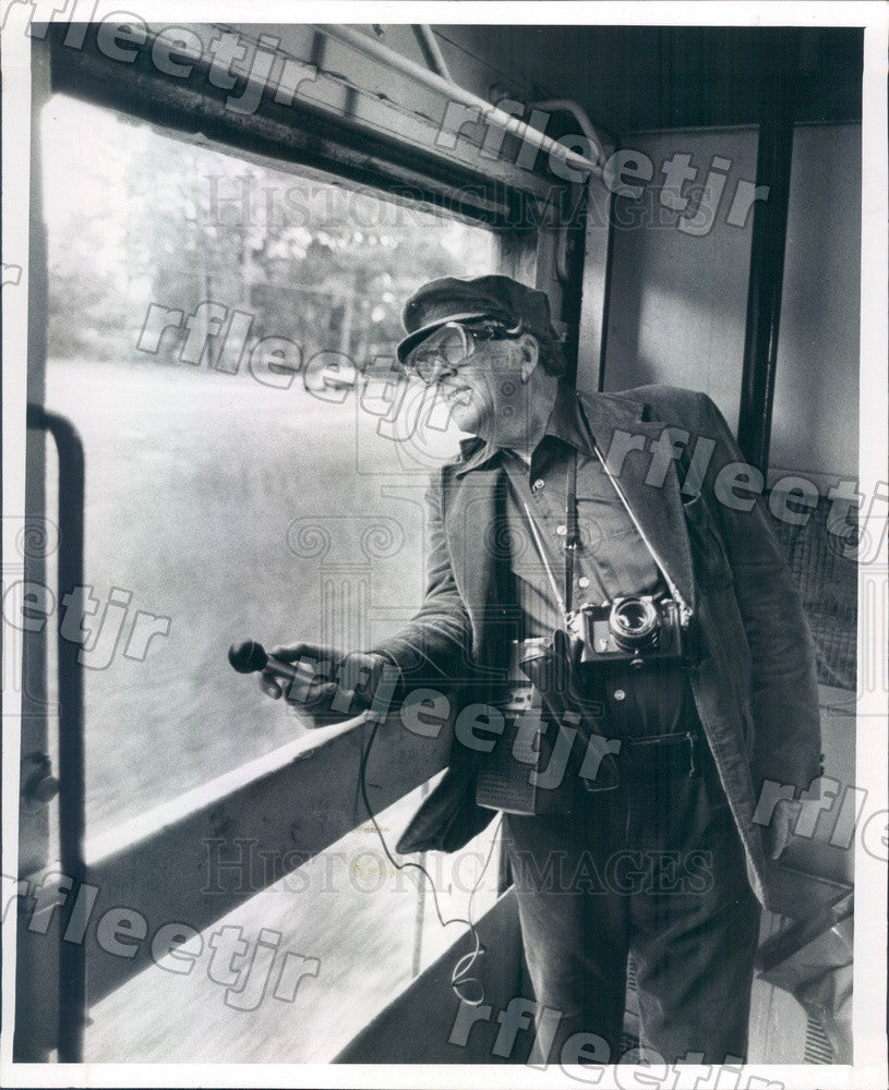 1981 Charles Sheldon Aboard Safety Express Train in Florida Press Photo adw55 - Historic Images
