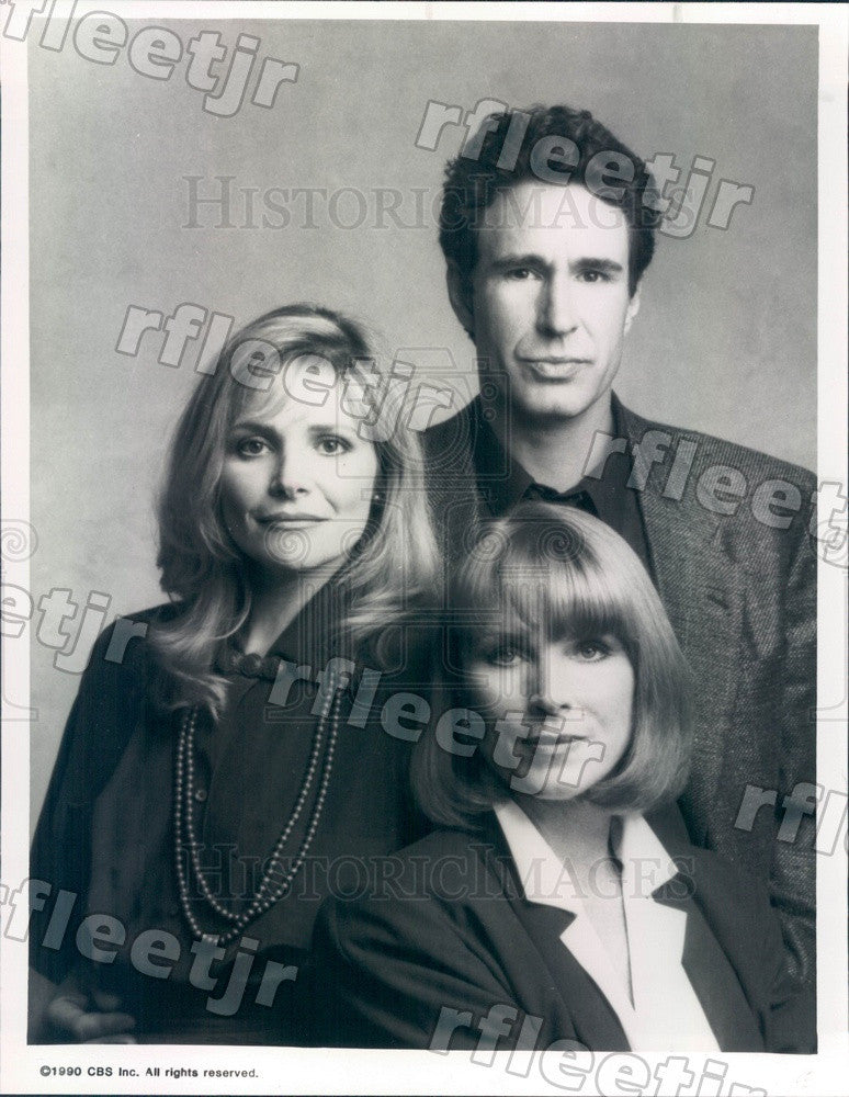1990 Stage & Film Actor John Shea on TV Show WIOU Press Photo adw551 - Historic Images