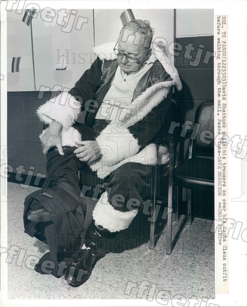 1983 New Port Richey, Florida Santa Claus David Shattuck Press Photo adw557 - Historic Images