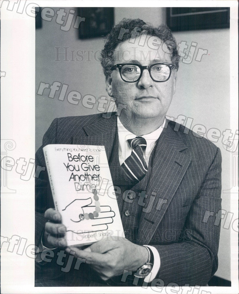1980 Author Robert Sharpe, Planned-Giving Consultant Press Photo adw559 - Historic Images