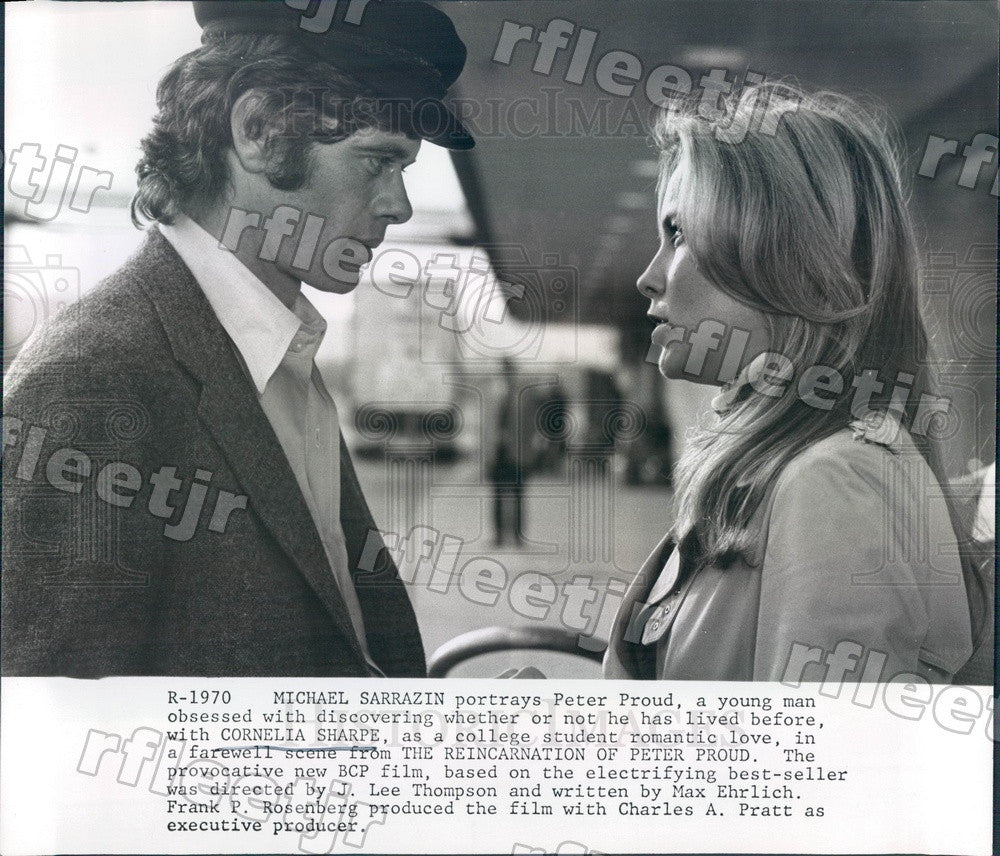 1975 Actors Michael Sarrazin & Cornelia Sharpe in Film Press Photo adw565 - Historic Images