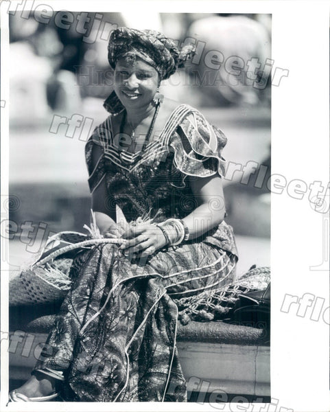 1989 African Dancer, Poet Ayo Sharpe Press Photo adw569 - Historic Images