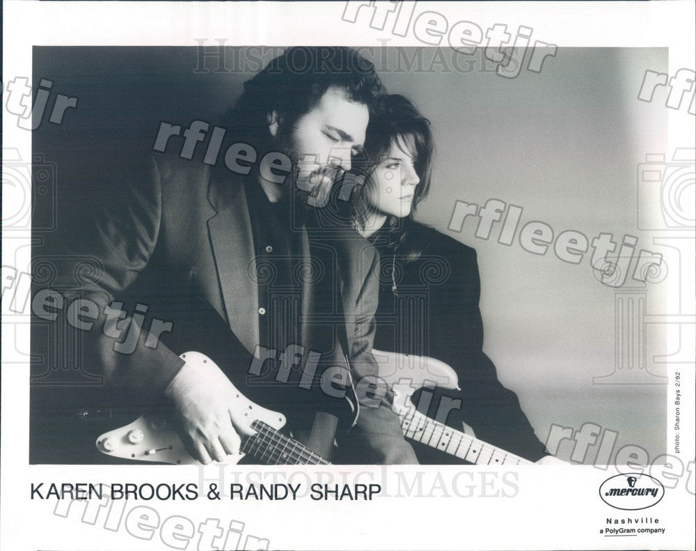 1992 Country Musicians Karen Brooks & Randy Sharp Press Photo adw583 - Historic Images