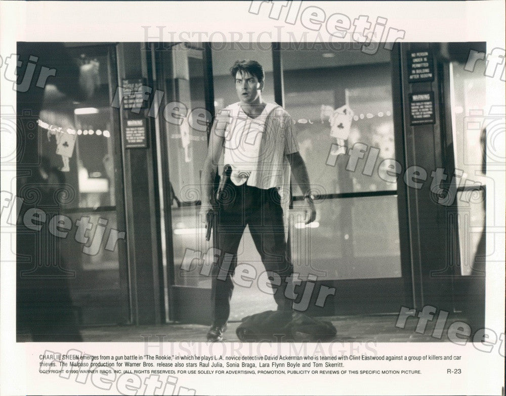 1990 Actor Charlie Sheen in Film The Rookie Press Photo adw603 - Historic Images