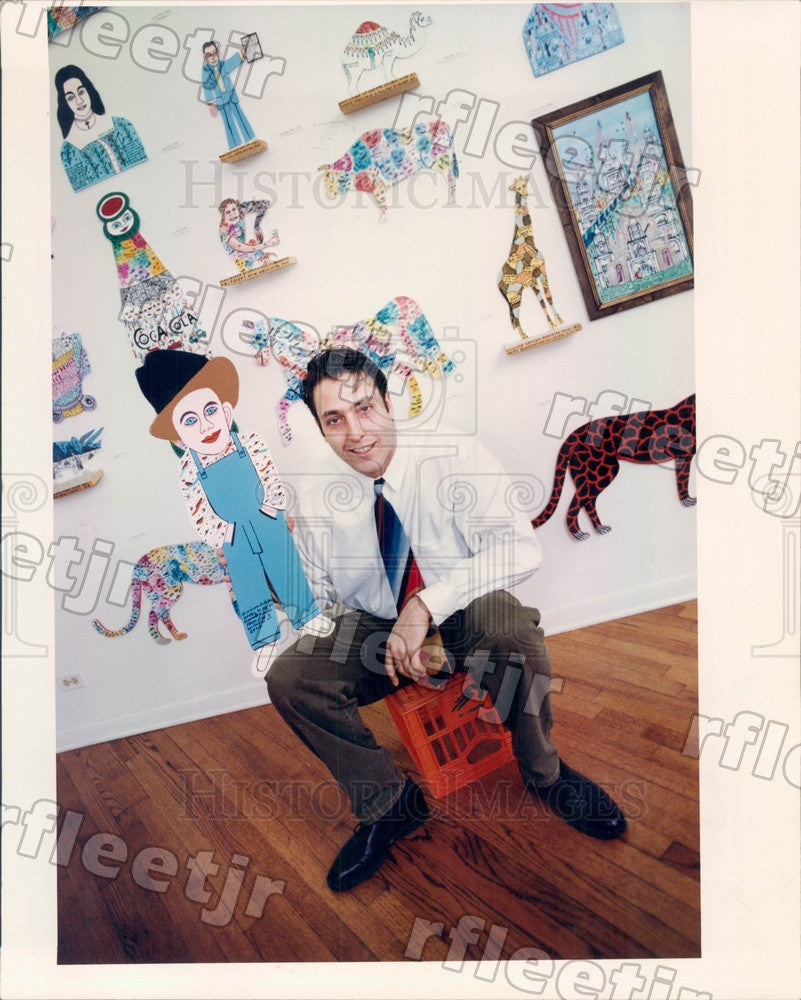 1993 Chicago, IL Wicker Park Gallery Owner David Leonardis Press Photo adw607 - Historic Images
