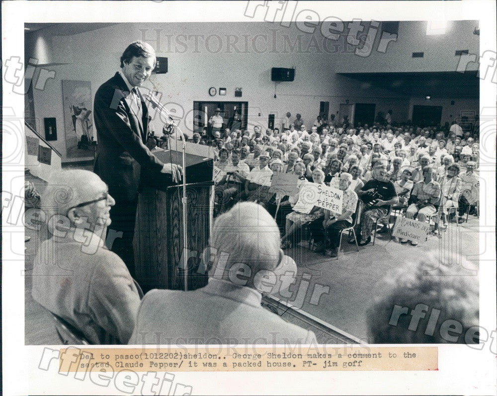 1982 US Rep George Sheldon of Florida Press Photo adw61 - Historic Images
