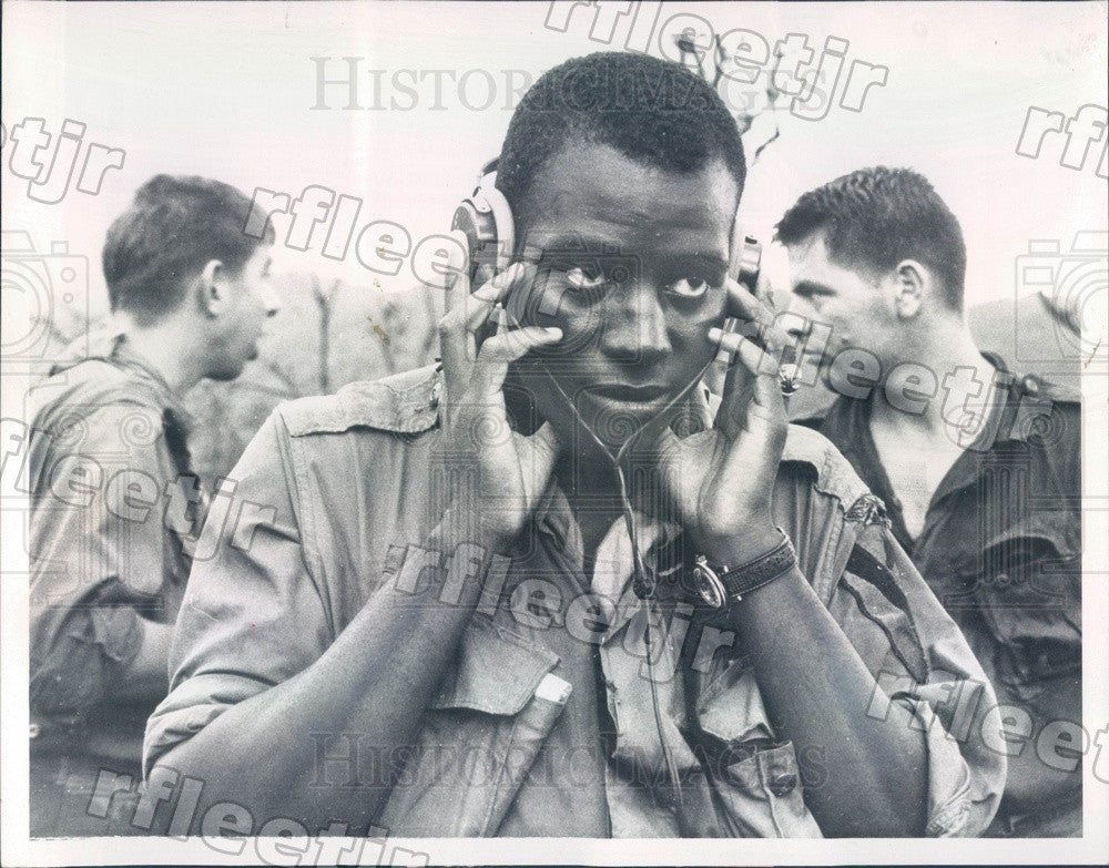 1967 US Army Capt Joseph B Anderson in Vietnam Press Photo adw611 - Historic Images