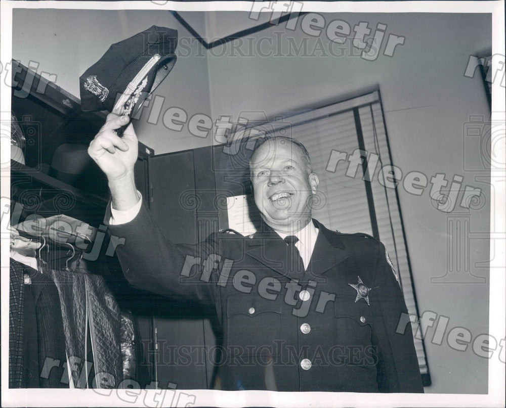 1961 Chicago, IL Police Asst Deputy Supt Albert Anderson Press Photo adw613 - Historic Images