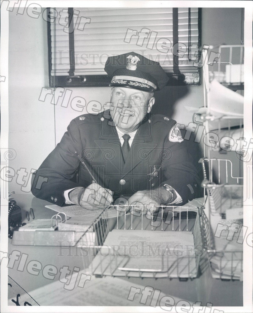 1961 Chicago, IL Police Asst Deputy Supt Albert Anderson Press Photo adw615 - Historic Images