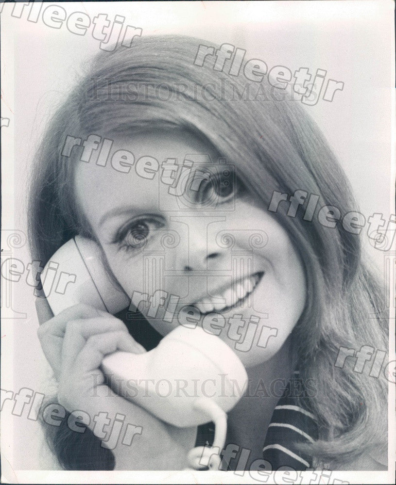 1969 Chicago Daily News Glamor Line Expert Jennifer Anderson Press Photo adw617 - Historic Images