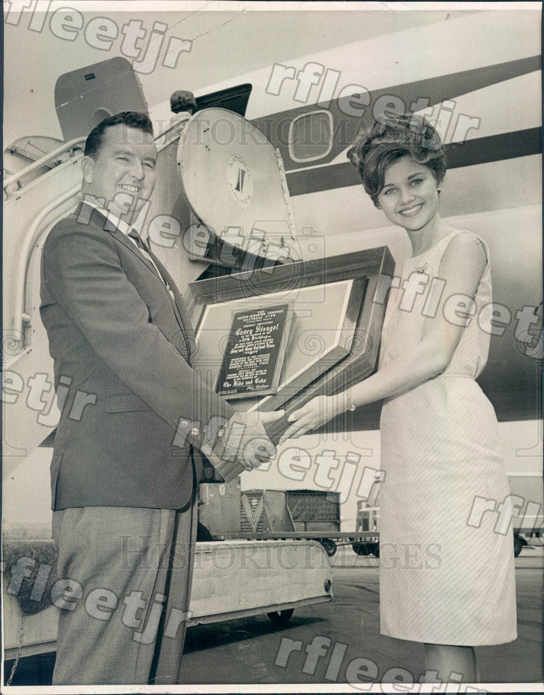 1965 Miss St Petersburg, Florida Cheryl Aurand & Bill Sheeley Press Photo adw629 - Historic Images