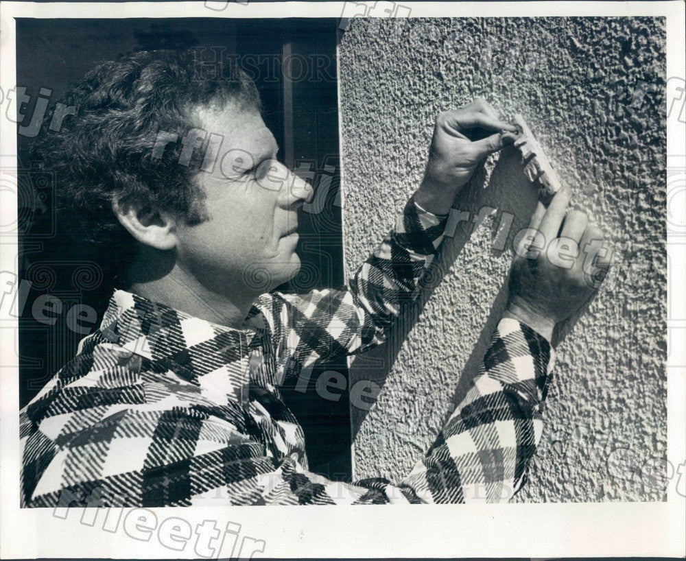 1977 Dunedin, FL Temple Ahavat Shalom President Bob Shear Press Photo adw637 - Historic Images