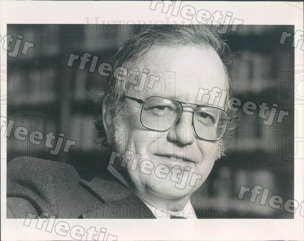 1979 Grammy Winning Author Wilfrid Sheed Press Photo adw685 - Historic Images