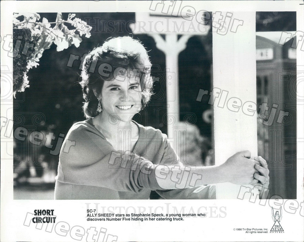 1986 Actress Ally Sheedy in Film Short Circuit Press Photo adw687 - Historic Images