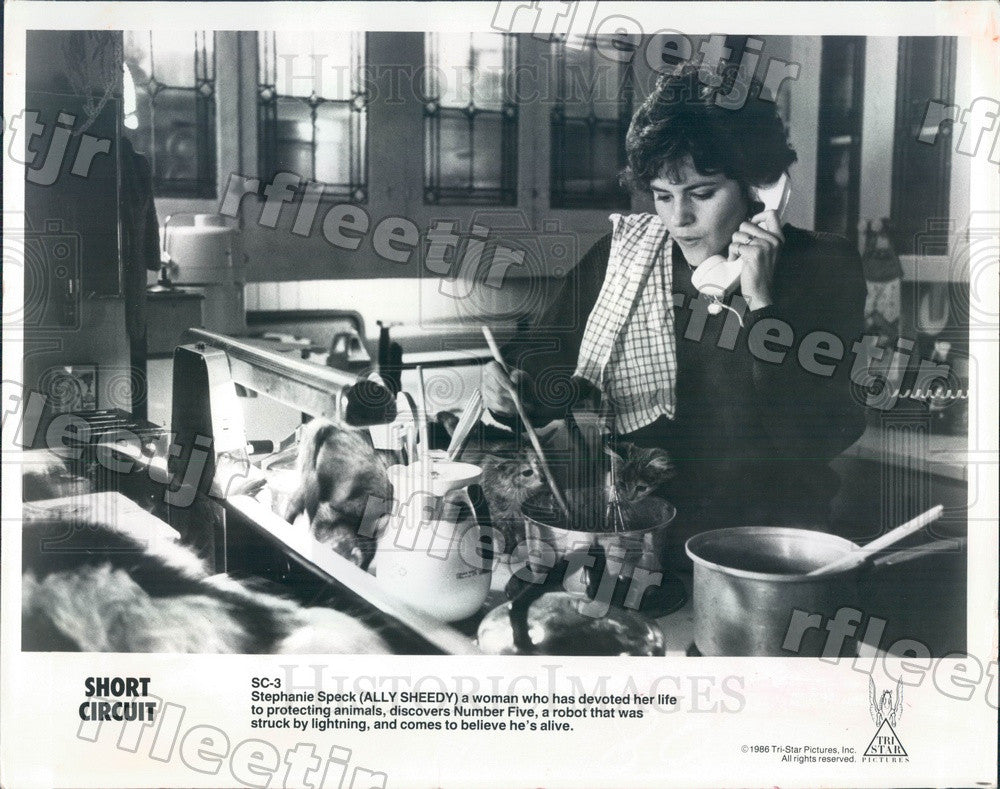 1986 Actress Ally Sheedy in Film Short Circuit Press Photo adw693 - Historic Images