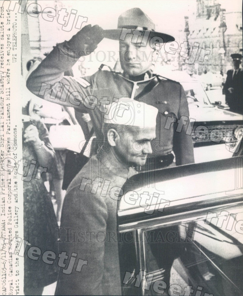 1965 India Prime Minister Lal Bahadur Shastri, Royal Canadian Press Photo adw699 - Historic Images