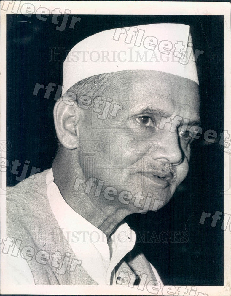 1964 India Prime Minister Lal Bahadur Shastri Press Photo adw717 - Historic Images