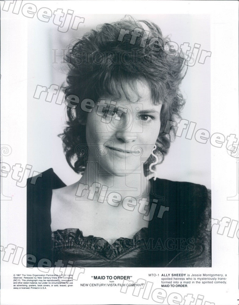 1987 Actress Ally Sheedy in Film Maid To Order Press Photo adw727 - Historic Images